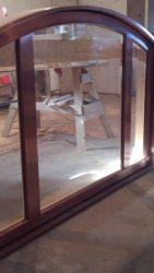 Copper clad entry door transom