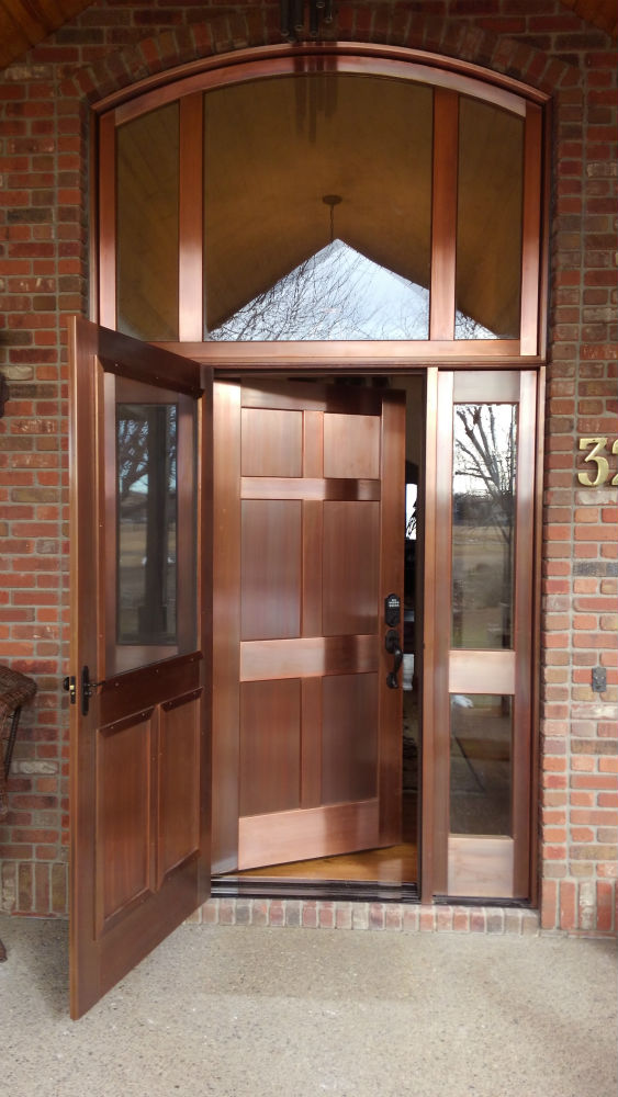 Copper Entry Door