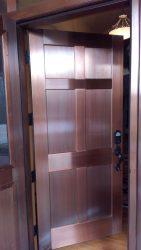 Six panel copper clad entry door