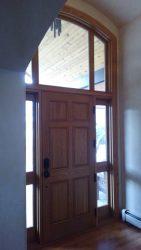 White oak raised panel exterior door