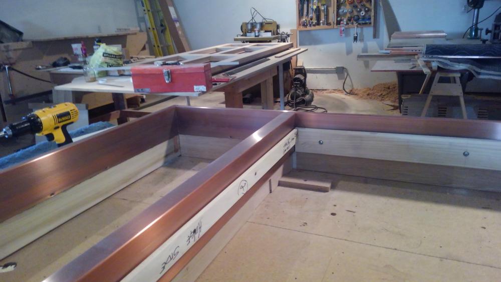 Copper clad entry door construction